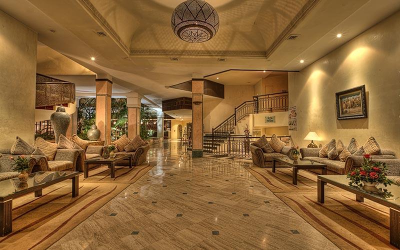 Réception de l'hôtel Semiramis à Marrakech
