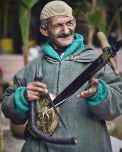 Portrait vieil homme Marrakech